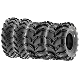 Set of 4 SunF A028 Off-Road ATV UTV Mud Tires 23x7-10 Front & 22x12-9 Rear, 6 PR, Tubeless