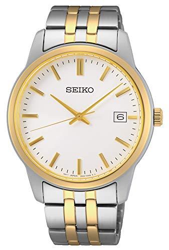 Seiko Reloj Analógico para Hombre de Cuarzo con Correa en Metal SUR402P1