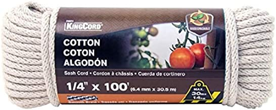 WELLINGTON CORDAGE 10208 7//32-Inch X 100-Feet Natural Sash Cord