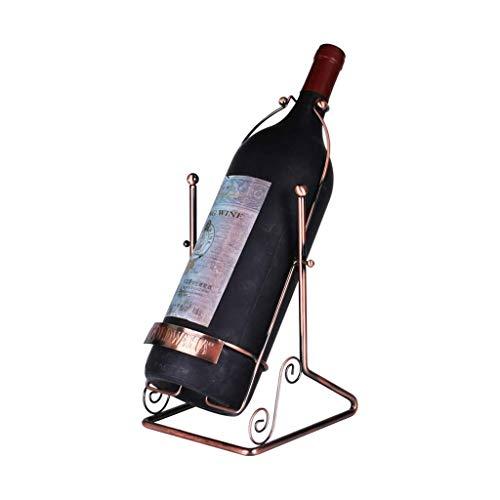 Botellero Vino Titular de almacenamiento del vino europeo de hierro forjado estante del vino decoración de la personalidad principal restaurante de la cocina de acero inoxidable del estante del vino e