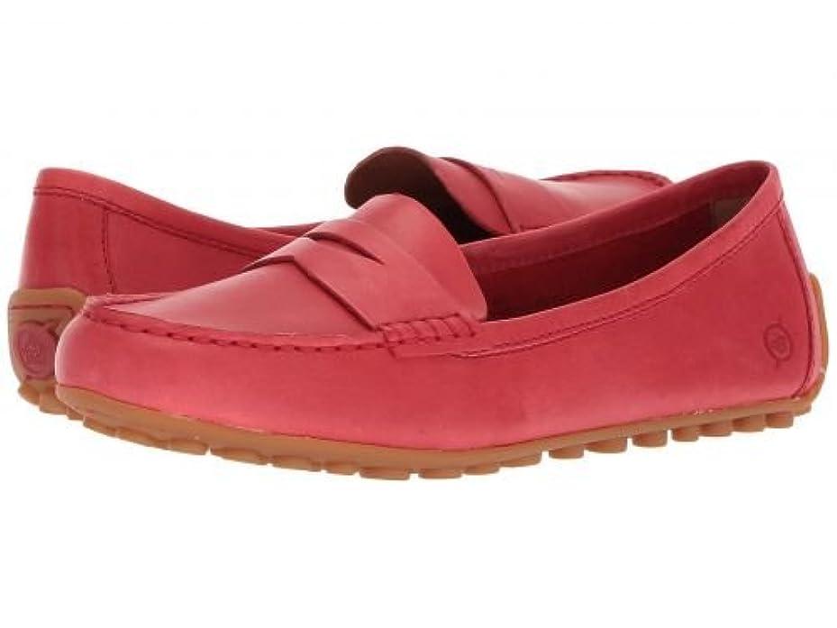 聞きます有能な悲観的Born(ボーン) レディース 女性用 シューズ 靴 ローファー ボートシューズ Malena - Red (Chili) Full Grain [並行輸入品]