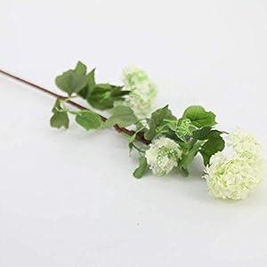 Silk Flower Arrangements FSFF Artificial Flower Fake Flowers Snowball Flower Flowers for Home Wedding Party Store DIY Decoration 5 Sticks-White