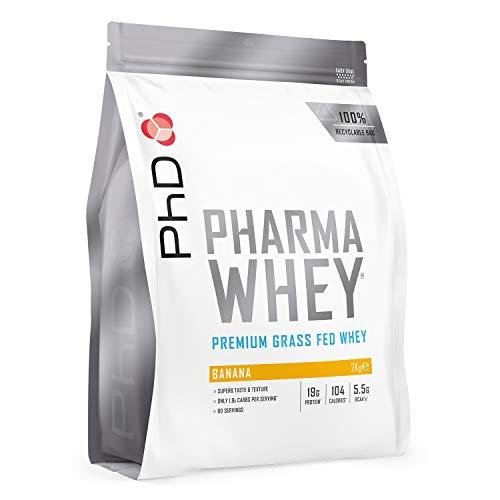 PhD Pharma Whey Protein Powder, Banana, 2 kg