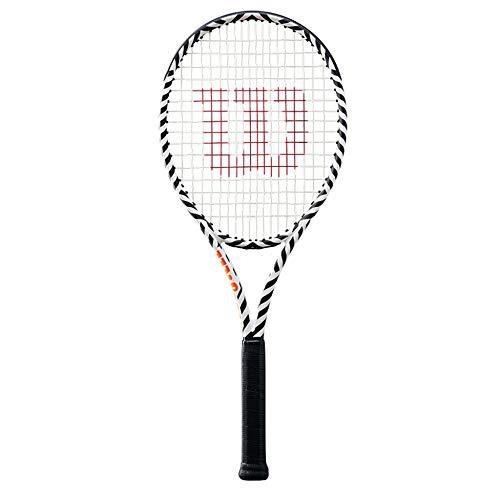 Raqueta De Tenis Individual para Hombres Y Mujeres Raqueta De Tenis Profesional De Fibra De Carbono Raqueta De Cebra Diseño De Doble Agujero Triple Absorción De Impactos,OneColor-27inches
