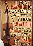 Inga Póster de violín de patente para violín, violín, arte de pared, arte de orquesta, música clásica, música clásica, cartel de metal violín, regalo de San Valentín, 30 x 40 cm