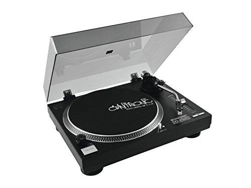 Omnitronic DD-2520 USB-Plattenspieler sw, Direktgetriebener DJ-Plattenspieler mit Phono-/Line-Umschaltung, Digitalisieren Sie in wenigen Schritten Ihre alten Vinyl-Schätze