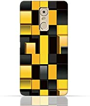 Lenovo K6 Note TPU Silicone Case With Yellow And Black Blocks Pattern Design