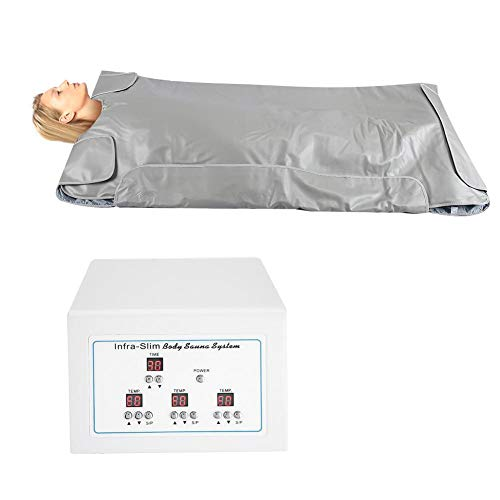 Manta de sauna, Manta de vapor Khan de infrarrojo lejano Manta de calefacción de seguridad Máquina de pérdida de peso de talladora de cuerpo, Terapia de desintoxicación profesional Dispositivo(EU)