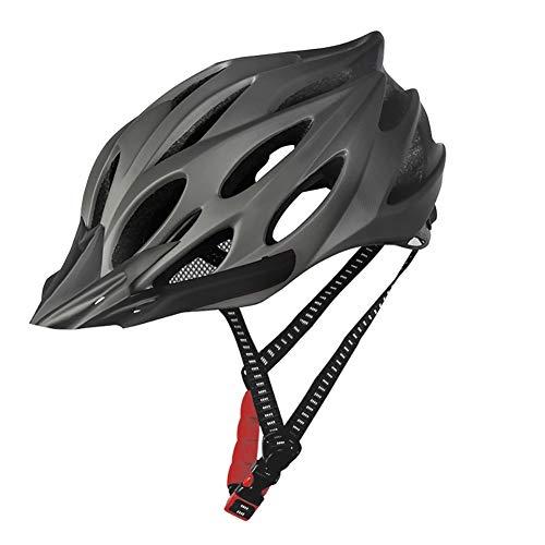 Sansund Fahrradhelm mit lichtgeschütztem Fahrradhelm, verstellbar, für Herren und Damen titan