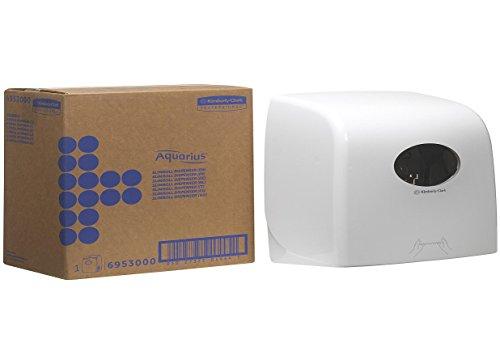 Aquarius Slimroll Handtuchspender 6953 – Weiß, 1 x weißer Handtuchrollen-Spender,