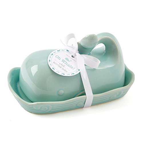 Two's Company, Seafoam Oh Whale Butter Dish, One Size