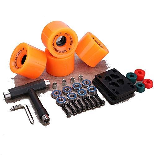 Skate Wheels Set, 5,0 Skateboard Achsen, Rollen/Lager ABEC 11 / Bolzen/Grip/Werkzeug-Set-Pads, Hardware 1