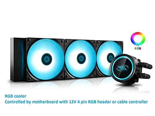 DEEP COOL Gammaxx L360 V2 RGB AIO CPU Wasserkühlung CPU-Flüssigkeitskühlung 3x120mm PWM Lüfter, 3 Jahre Garantie