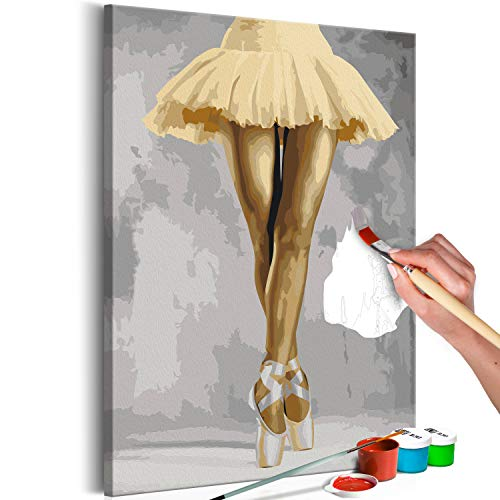 murando - Malen nach Zahlen Ballerina Tänzerin 40x60 cm Malset mit Holzrahmen auf Leinwand für Erwachsene Kinder Gemälde Handgemalt Kit DIY Geschenk Dekoration n-A-1040-d-a