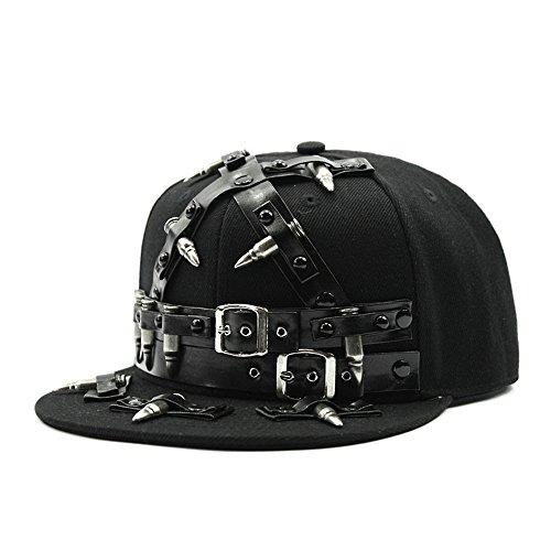 MAYBAO con Tachuelas Gorra Remaches Gorra de béisbol con Pinchos Spike Flat Bill Cap Hat (Varios)