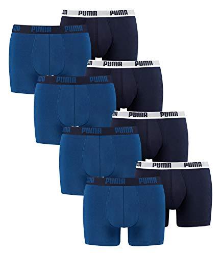 PUMA 8 er Pack Boxer shorts, Herren Unterhose, XXL, True Blue