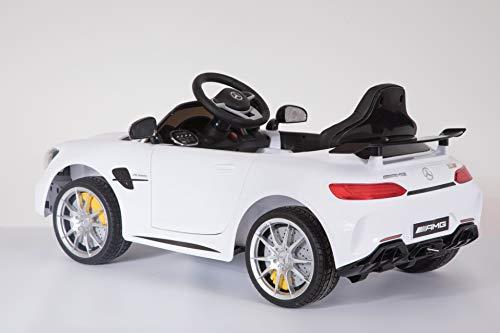 RC Auto kaufen Kinderauto Bild 2: Shov Mercedes Benz GTR AMG Kinderauto Elektroauto Kinderfahrzeug 12V (Weiss)*
