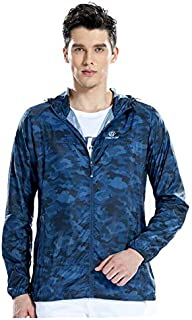 BEESCLOVER Tectop Summer Outdoor Clothing Thin Windproof Sunscreen Outerwear(Royal Blue Camouflage S Male)