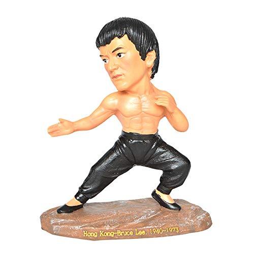 Wanjun Kunsthandwerk aus Kunstharz, gemischte Kampfkunst Bruce Lee Charakter Ornamente, geeignet für das Studium, Wohnzimmer, Retro-Dekorationen, Büromöbel und Geschenke Kunsthandwerk