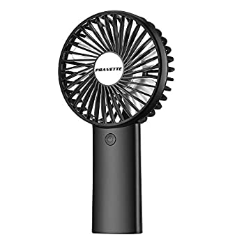 Personal Fan PRAVETTE Portable Mini Handheld Fan with 4000mAH Rechargeable Batteries 8-18 Hours Working Time 3 Speed Adjustable Settings for Office Home Outdoor and Travel  Black