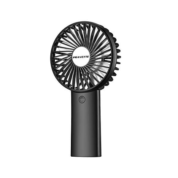 PRAVETTE Portable Handheld Fan,USB 4000mAH Rechargeable Batteries, 8-18 Hours Working...