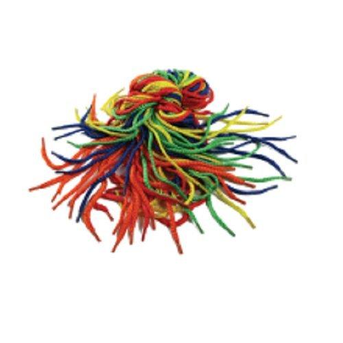 Play & Discover Barn leksak skosnören, 3 mm x 75 cm, 40 stycken i 4 olika färger