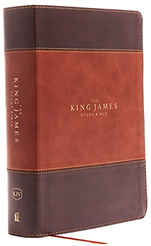The King James Study Bible, Imitation Leather, Brown, Full-Color Edition: Holy Bible, King James Version