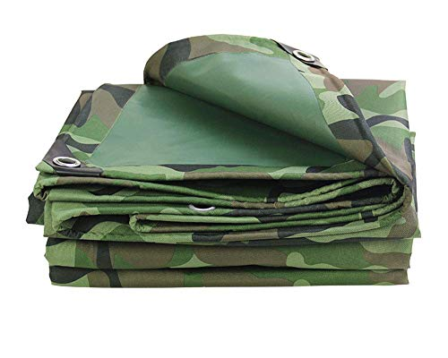 JUNWEN LHXcamouflage Plane, wasserdichte Hochleistungs-Plane, geeignet für Camo-Artikel-Abdeckung, Gartendekoration, Outdoor Camping, Campzelt, Mehrzweckmöglichkeiten,...