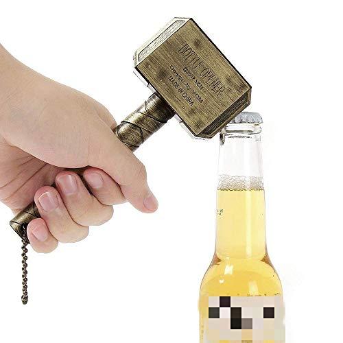 Abridor de Botellas de Martillo Thor,Thor Hammer Abrebotellas Abrebotellas,Abrebotellas de Cerveza Personalizable Grande Ideal Como Regalo