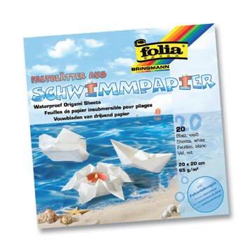 Schwimmpapier, 20x20cm, 20 Blatt, 65g/m² [Spielzeug]