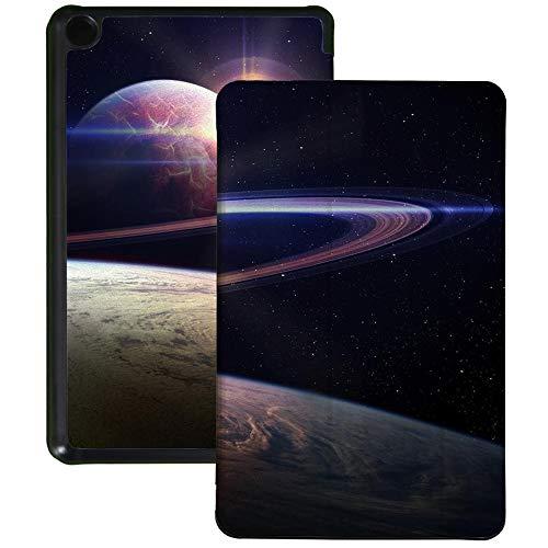 QIYI Funda para Kindle Fire 7 Tablet 9ª Generación Infantil Funda delgada ligera plegable con múltiples ángulos de visión Smart Case con Auto Wake/Sleep - Sunrise en Universal