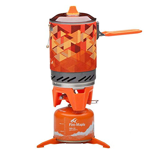 Fire-Maple Star FMS-X2 Outdoor Cooking System Portable Camp Stove with Piezo Ignition POT Support & Stand - Ultralight Compact Windproof High Heating Efficiency - Propane & Butane Canisters