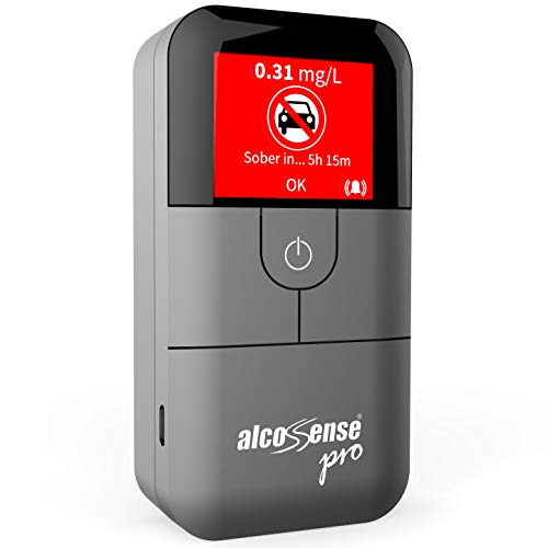 """AlcoSense Pro Fuel Cell Breathalyser/Breathalyzer & Alcohol Tester - Sunday Times - Rating: 5 Stars""""Impressively Accurate"""" & Auto Express 2018 Recommended"""