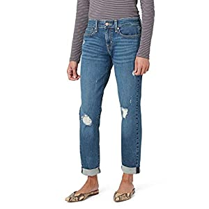 Signature by Levi Strauss & Co. Gold Label Juniors Mid Rise Boyfriend Jeans, Not Stone As, 11