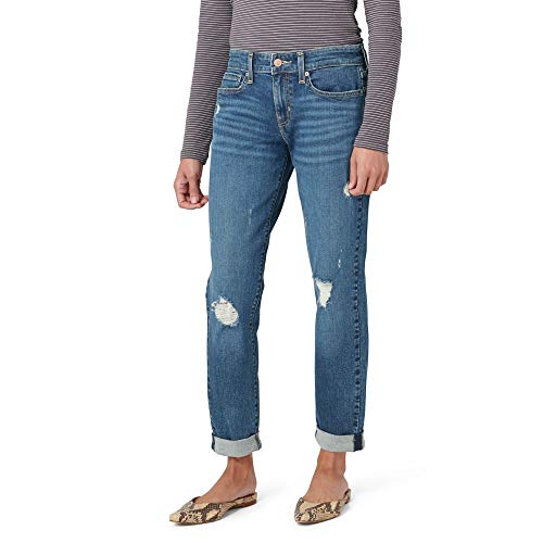 Signature by Levi Strauss & Co. Gold Label Juniors Mid Rise Boyfriend Jeans, Not Stone As, 7