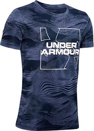 Under Armour Boys' Tech Big Logo Printed Short Sleeve Gym T-Shirt (Blue Ink/Blue Ink/Reflective - 497, X-Small)