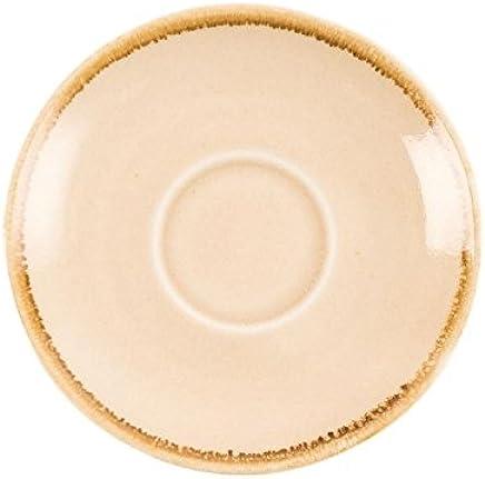 Preisvergleich für Olympia Ofen GP329Sandstein Espresso Untertasse, Porzellan, 115mm Durchmesser, creme (6Stück)