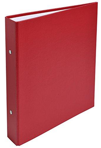 Exacompta - Réf. 51075E - Classeur rembordé PP - 2 anneaux ronds diamètre 25 mm - Dos 40 mm - Dimensions extérieures : 23x21 cm - Format à classer A5 - Coloris : rouge