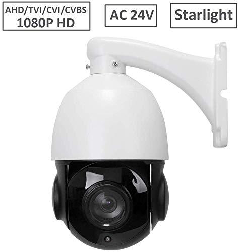 LEFTEK Cámara de CCTV al Aire Libre PTZ 2MP HD-CVI HD-TVI AHD Coaxial CVBS Cámara de Seguridad analógica 4 en 1 Zoom óptico 20X Domo de Velocidad IR de 60M con Control RS485 AC24V