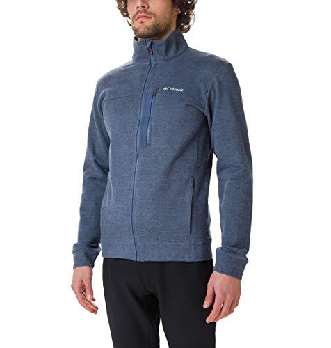 Columbia Herren Panorama Fleece-jacke mit Durchgehendem Reißverschluss, Blau (Dark Mountain), XL