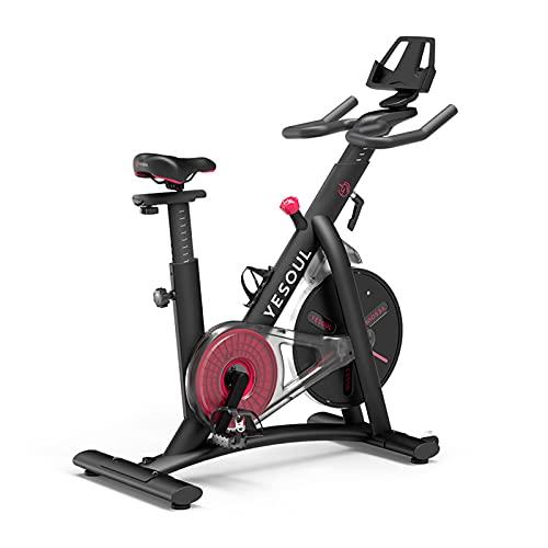 Yesoul S3 Crosstrainer para casa, bicicleta estática, plegable, niveles de resistencia ajustables, bicicleta de spinning, resistencia magnética (negro)