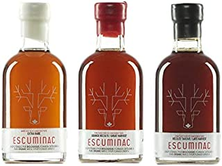 Award Winning Escuminac Canadian Maple Syrup Gift Bundle Grade A Including Our Extra Rare, Great Harvest and Late Harvest ...