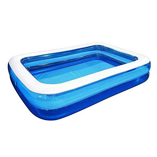 JTJxop Piscina Hinchable Rectangular, Piscina Hinchable Rectangular Grande, Piscina Hinchable Infantil, Piscina Infantil Hinchable Cuadrada, Piscina Familiar Swim Center, 200x150x50 cm Azul