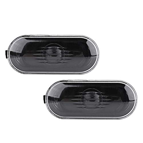 N\A Scheinwerferglas, Markierungslichtabdeckung for Gehäuseabdeckung for B5 B5.5 Schwarze Linse Auto String heißer 1 Paar Seite