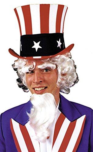 Uncle Sam Wig Goatee Eyebrow Accessory