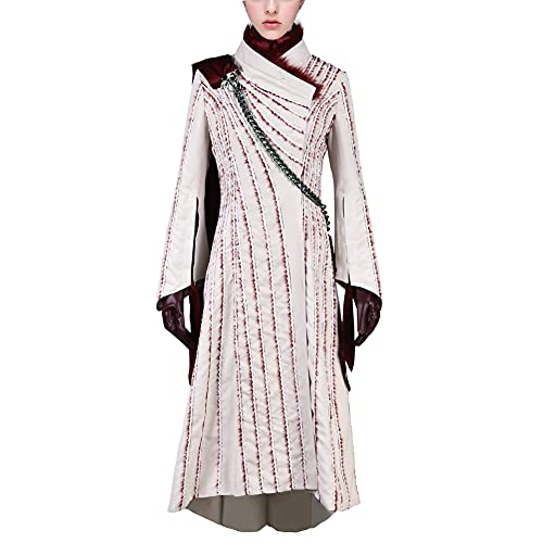 starfun GOT Game of Thrones Daenerys Targaryen Dress Cosplay Costume Dragon Mother Gown Outfit Suit (XXX-Large, Style1)