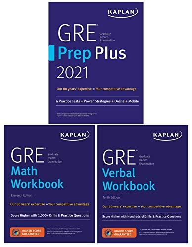 GRE Complete 2021: 3-Book Set: 6 Practice Tests + Proven Strategies + Online (Kaplan Test Prep)