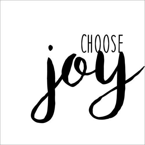 Posterlounge Cuadro de Aluminio 50 x 50 cm: Choose Joy de Anna Hambly/World Art Group