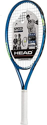 HEAD Speed Kids Tennis Racquet - Beginners Pre-Strung Head Light Balance Jr Racket - 25 Inch, Blue