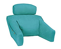 Bedlounge classic back support reading pillow for kids boys girls teal
